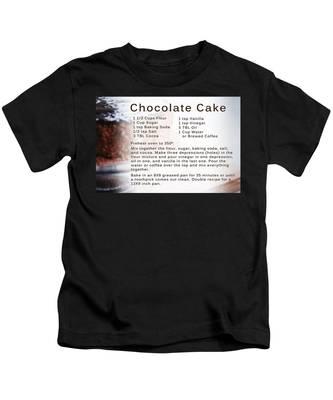 Chocolate Cake Recipe Kids T-Shirt