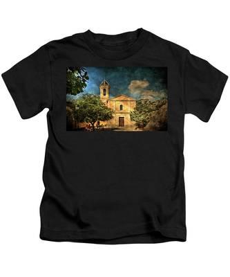 Church In Peillon Kids T-Shirt