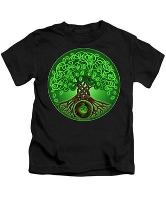 Circle Celtic Tree Of Life Kids T-Shirt