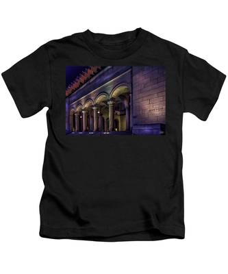 Kids T-Shirt featuring the photograph City Hall At Night by Endre Balogh