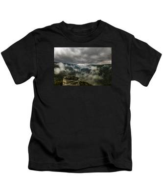 Clouds Rising At Lindy Point Kids T-Shirt