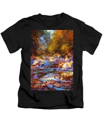Colorful River Kids T-Shirt