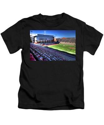 Cougar Football Complex At Martin Stadium Kids T-Shirt