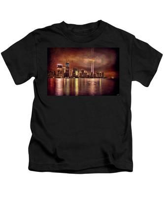 Downtown Manhattan September Eleventh Kids T-Shirt