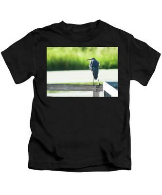 Early Morning Great Blue Heron Kids T-Shirt