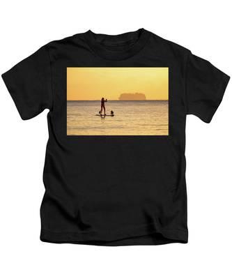 Evening Paddle Kids T-Shirt