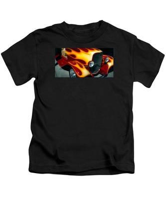 Flaming Hot Rod Kids T-Shirt