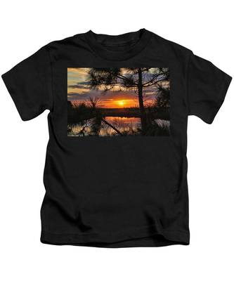 Florida Pine Sunset Kids T-Shirt