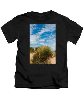 Formby Sand Dunes And Sky Kids T-Shirt