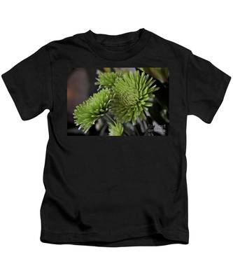 Kids T-Shirt featuring the photograph Green Mums by Bridgette Gomes
