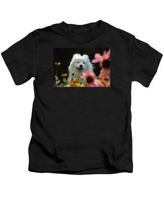 Happy Gal In The Garden Kids T-Shirt