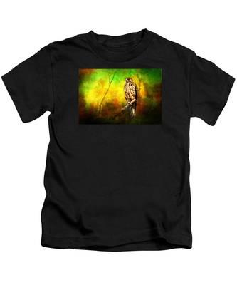 Hawk On Branch Kids T-Shirt