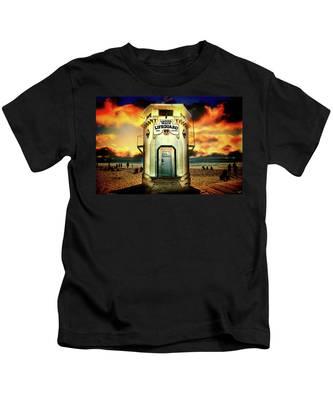 Laguna Beach Lifeguard Hq Kids T-Shirt