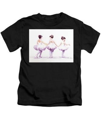 Little Ballerinas-3 Kids T-Shirt