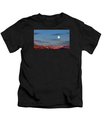 Moonrise With Afterglow Kids T-Shirt