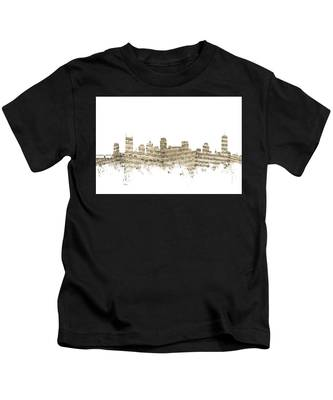 Nashville Tennessee Skyline Sheet Music Kids T-Shirt