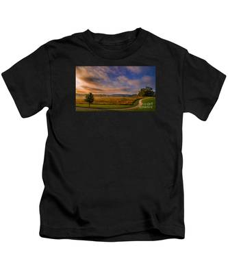 October Morning At Valley Forge Kids T-Shirt