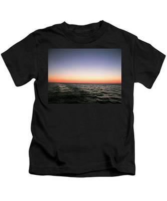 Orange And Black Kids T-Shirt