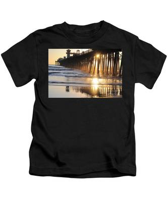 Kids T-Shirt featuring the photograph O'side Pier by Bridgette Gomes