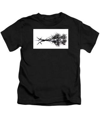 Palm Branch At The Beach Kids T-Shirt