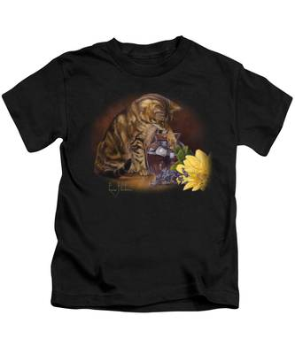 Paw In The Vase Kids T-Shirt