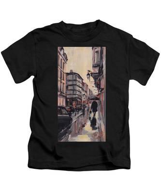 Pluie Rue De Regence Liege Kids T-Shirt