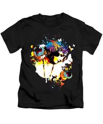 Female Figure Kids T-Shirts