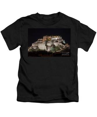 Potala Palace At Night Kids T-Shirt