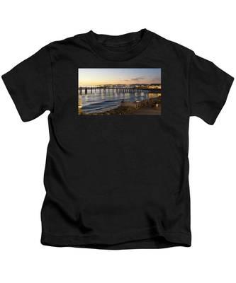 Redondo Pier At Sunset Kids T-Shirt