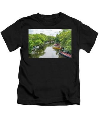 River Boat Dock Kids T-Shirt