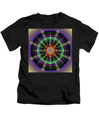 Kids T-Shirt featuring the digital art Sacred Geometry 652 by Endre Balogh
