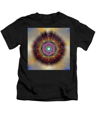 Kids T-Shirt featuring the digital art Sacred Geometry 657 by Endre Balogh