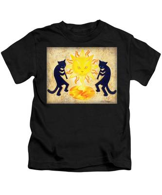 Solar Feline Entity Kids T-Shirt