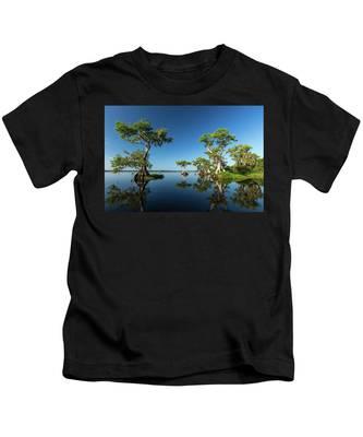 Spring Vistas At Lake Disston Kids T-Shirt