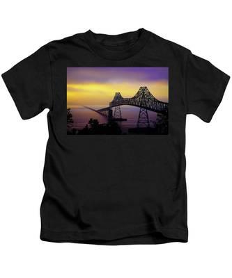 Sun Setting Through The Fog Kids T-Shirt