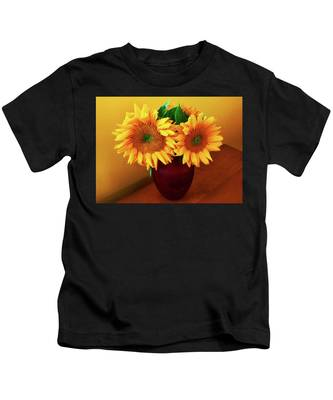 Sunflower Corner Kids T-Shirt