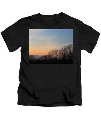 Fall Sunset Kids T-Shirt