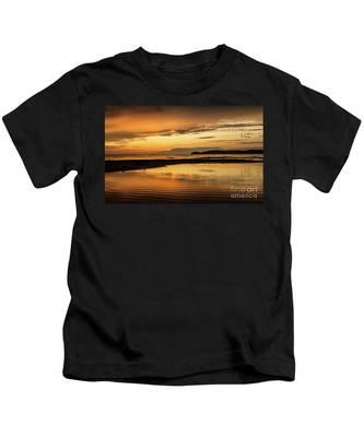 Sunset And Reflection Kids T-Shirt