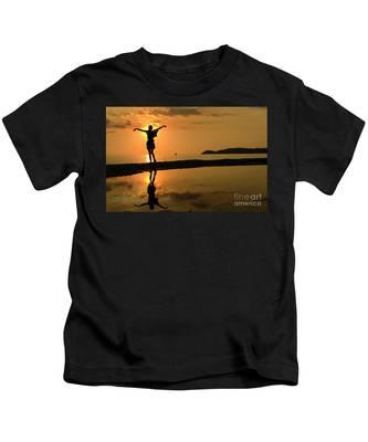 Sunset Dance Kids T-Shirt