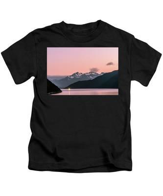 Sunset In Alaska Kids T-Shirt