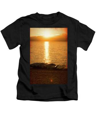 Sunset On Quinault Kids T-Shirt