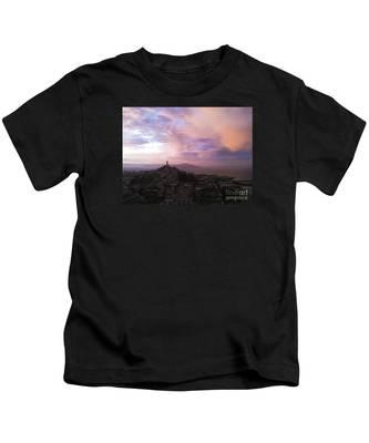 Sunset On The Bay Kids T-Shirt