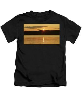 Sunset Over Piermont Kids T-Shirt