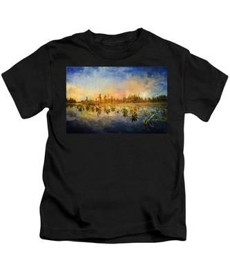 Sunset Over The Okefenokee Kids T-Shirt