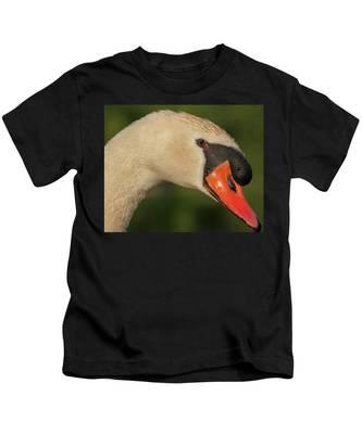 Swan Headshot Kids T-Shirt