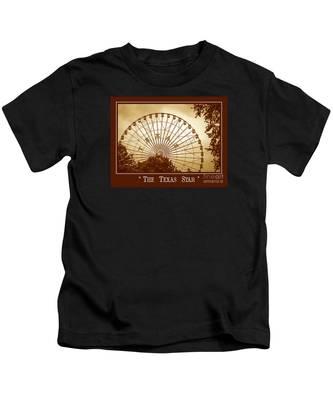 Texas Star In Gold Kids T-Shirt
