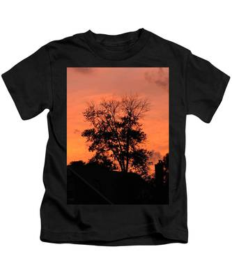Tree On Fire Kids T-Shirt