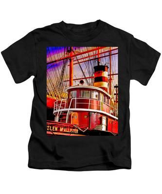 Tugboat Helen Mcallister Kids T-Shirt