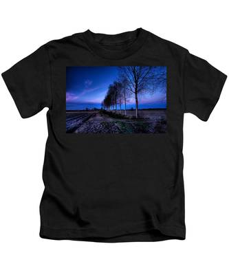 Twilight And Trees Kids T-Shirt