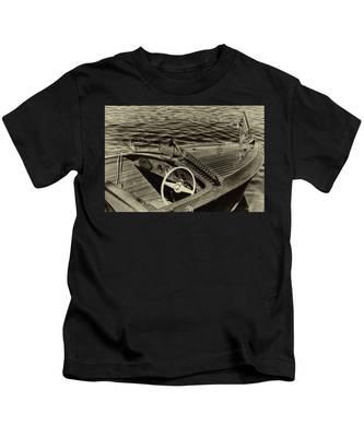 Vintage 1958 Chris Craft Utility Boat Kids T-Shirt